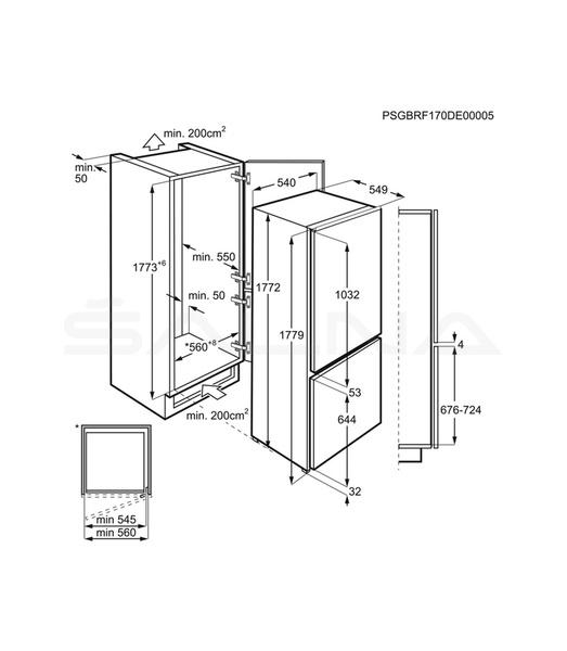 Nowoczesna architektura Įmontuojamas šaldytuvas Electrolux ENN7853COW | Įmontuojami PV27