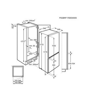 Fantastyczny Įmontuojamas šaldytuvas Electrolux ENN7853COW | Įmontuojami VC27